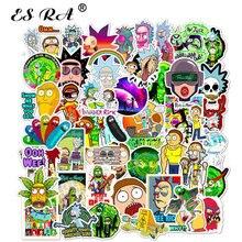 50pcs/Set Notebook Cartoon Sticker Morty Skateboard-Luggage Laptop Rick Pegatinas Waterproof