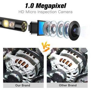 Image 5 - 5.5 مللي متر الصناعية المنظار 1080P HD الرقمية المزدوج عدسة كاميرا منظار فحص مقاوم للماء 4.5 بوصة LCD ثعبان كاميرا مع بطاقة 32 جيجابايت TF