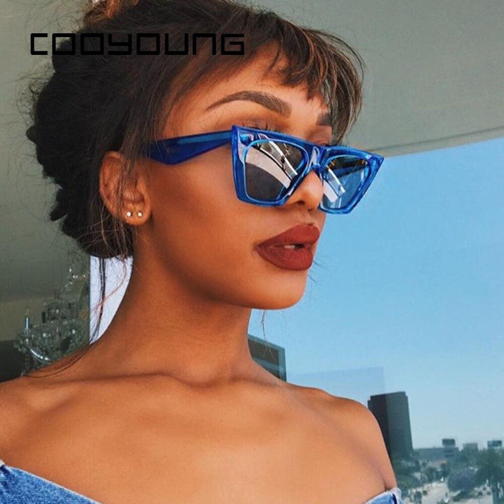 COOYOUNG New Oversized Sunglasses Women Men Luxury Brand Designer Sun Glasses Famale Retro Square Sun Glasses UV400