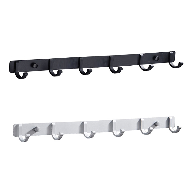 Bathroom Hardware Set #3 Space Aluminum Bathroom Hanger Black Hook Wall Mount Aluminum Coat Hook Bathroom Robe Hooks Hat Rack
