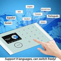Wifi GSM Alarm System Wireless & Wired Detektoren Alarm Smart Home Relais Ausgang APP Englisch/Russisch/Spanisch/frankreich/Italienischen