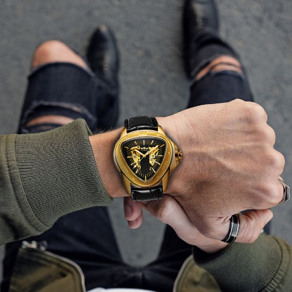 Ha7a5c9af053a46249871027c68fc7ae5A WINNER Official Sports Automatic Mechanical Men Watch Racing Triangle Skeleton Wristwatch Top Brand Luxury Golden + Gift Box