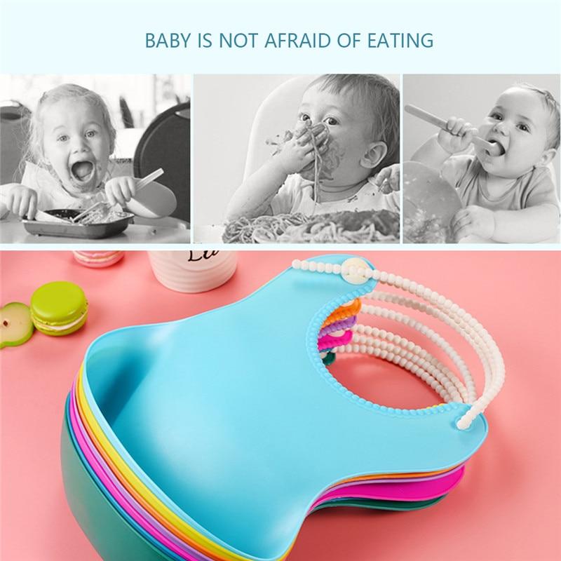 Kid Infant Silicone Gel Bibs Baby Soft Waterproof Saliva Dripping Bibs Toddler Children Feeding Tool Boy Girl Burp Cloth Bandana in Bibs Burp Cloths from Mother Kids