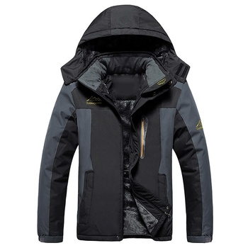 Winter Men Hiking Jacket 2019 New Warm Male Casual Thick Waterproof Outerwear Hooded Overcoat Man Coat Windproof Mens Fashion