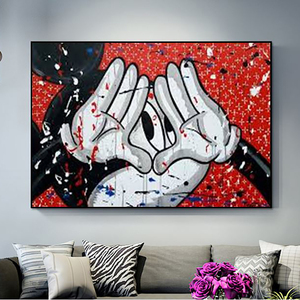 Modular Canvas HD Prints Nordic Cartoon Cute Mickey Mouse Pictures Wall Art Paintings Home Decor Posters For Living Room Frame(China)