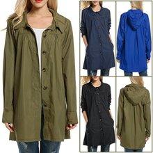 Women Lightweight Waterproof Coat Female Raincoat Jacket Packable Ladies Fashion