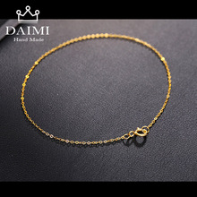 DAIMI 18k Pure Gold Women Bracelet Yellow Girl Genuine Real