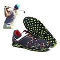 Черные  зеленые спортивные кроссовки  брендовая профессиональная обувь для гольфа для мужчин и женщин  Удобная Нескользящая Мужская Спорти...