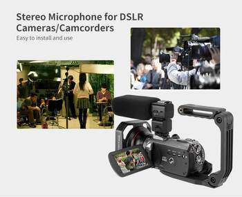 External Stereo Microphone for DSLR Stereo Camera Camcorder Cardioid Microphone for Nikon/Canon DSLR CAMAERS Video cameras
