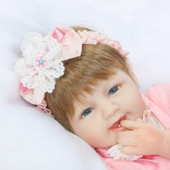 """Real baby doll 18"""" 40cm sweet girl bebe reborn silicone reborn babies dolls toy for children gift"""