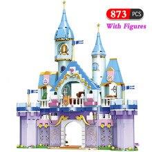 873Pcs Creative Prince Princess Castle Building Blocks City Friends Garden House Model Construction Bricks Toys for Boys Girls