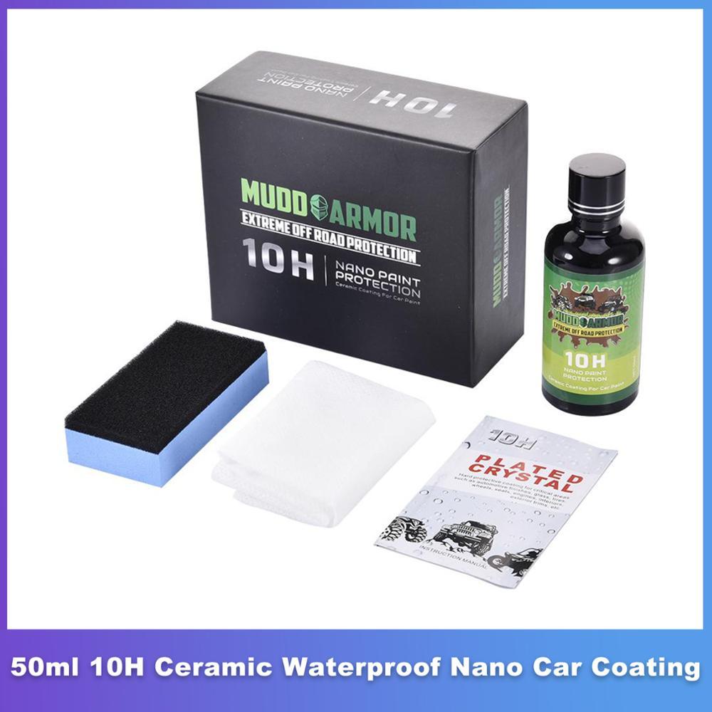 Керамическое покрытие для автомобиля 10H, водостойкая гидрофобная нано-керамика, устойчивая к царапинам, 50 мл
