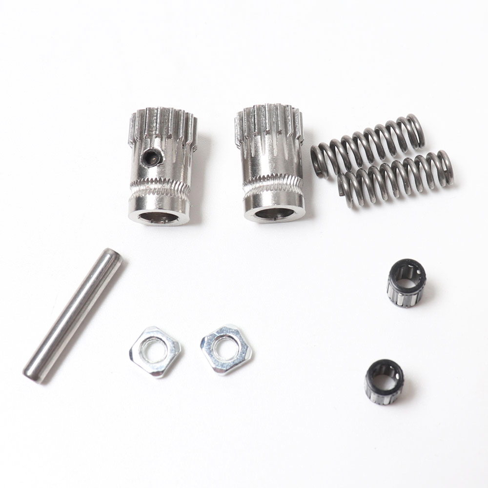 Prusa I3 Mk2/mk2.5/mk3 3d Printer Extruder Driving Gears Btech Dual Gears, With 2pcs Extruder Spring
