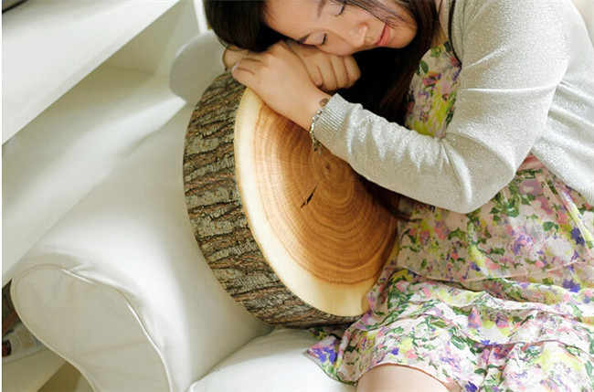切り株形装飾枕家の車の装飾かわいいラウンド森穀物ソフトぬいぐるみ座椅子クッション枕