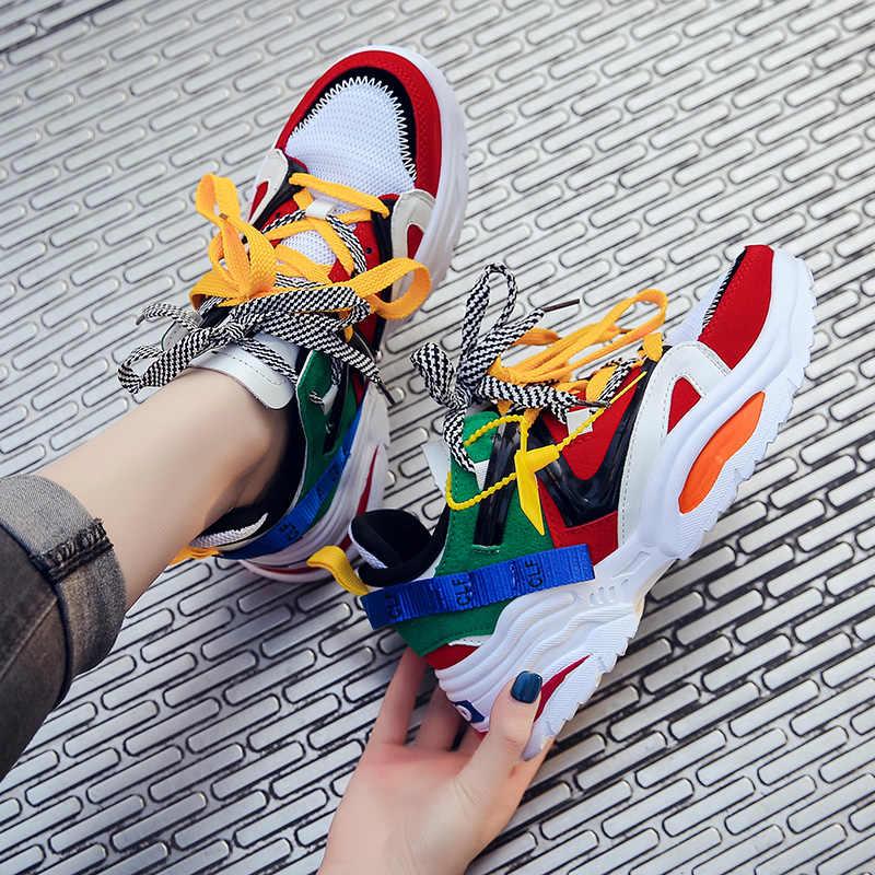Vrouwen Sneakers 2019 Sport Schoenen Lente Herfst Dames Outdoor Casual Schoenen Gym Fitness Trainer Loopschoenen Zapatos De Mujer