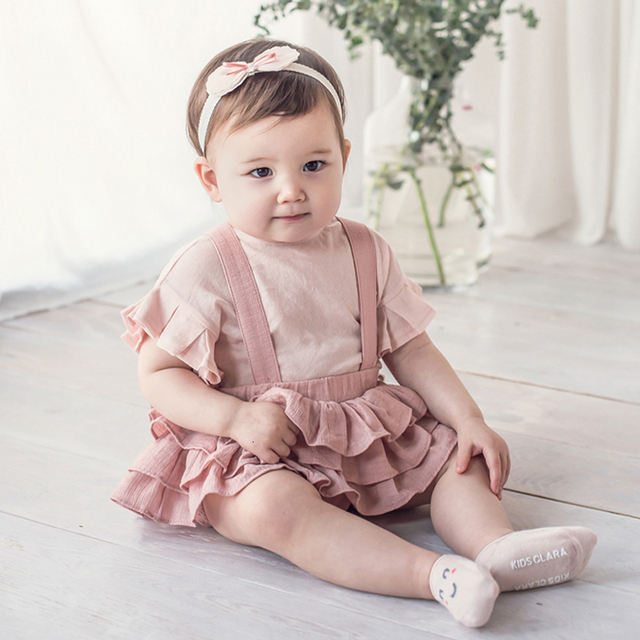 Baby Girl's Ruffle Skirt with Straps 3