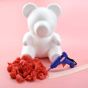 100pcs teddy bear of roses PE wedding decorative flowers wreaths christmas decorations for home DIY gift Artificial flowers