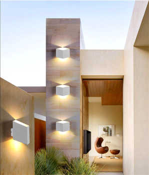 Aluminum Creative Indoor Outdoor Wall Light Black White Gold Lamp for Bedroom Decor