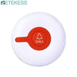RETEKESS TD009 Wireless Calling System  Nursing Call Bell Button Red Waterproof Transmitter For Hospital Patient Service