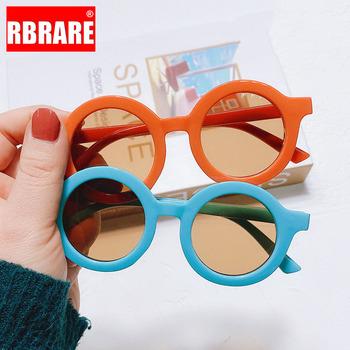RBRARE okulary przeciwsłoneczne dla dzieci dla dziewczynek okrągłe okulary przeciwsłoneczne dla dzieci śliczne osobowości dla dzieci okulary przeciwsłoneczne anty-uv dla dziewczynek Boy Wholesale tanie i dobre opinie CN (pochodzenie) Dziewczyny ROUND Z tworzywa sztucznego NONE Lustro Anti-odblaskowe UV400 38mm Akrylowe MN12005