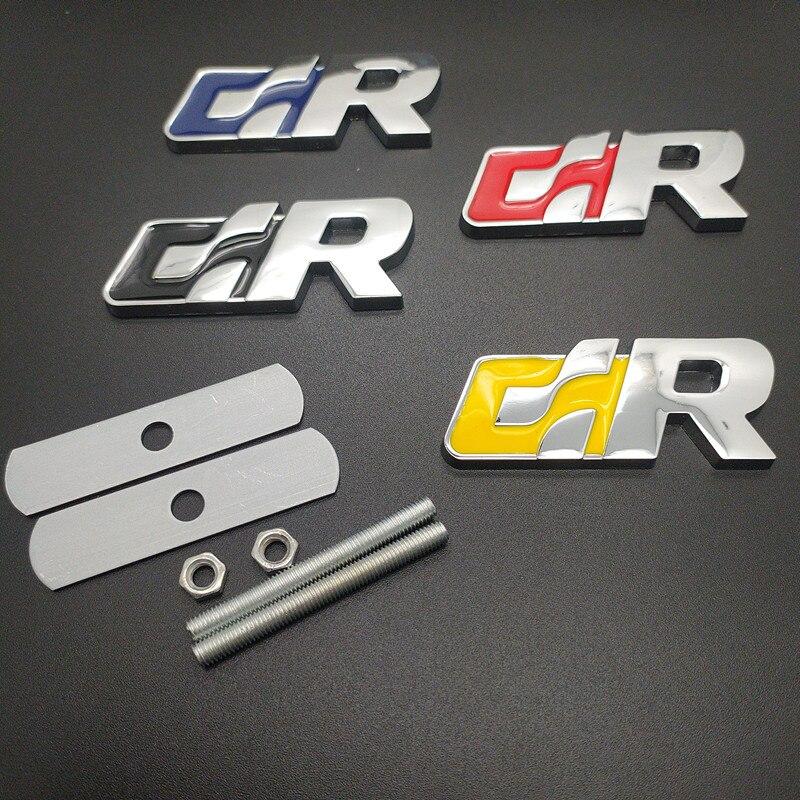 Placa de rejilla de coche emblema de la parrilla del capó delantero para Volkswagen R Racing Sagitar VW Passat Golf tizan Touareg CC GR SR pegatina