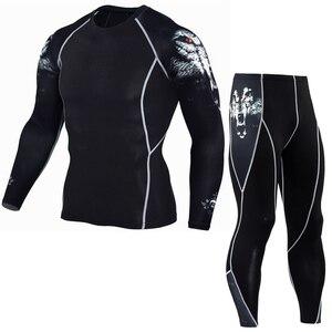 Мужские спортивные костюмы, одежда для велоспорта, быстросохнущая спортивная одежда, спортивный костюм, компрессионная одежда, Рашгард, ММ...