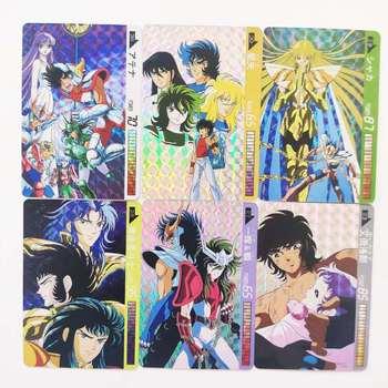 цена на 18pcs/set Saint Seiya Jiren Seiya Shiryu Hyoga Game Action Toy Figures Commemorative Edition Collection Cards Free Shipping