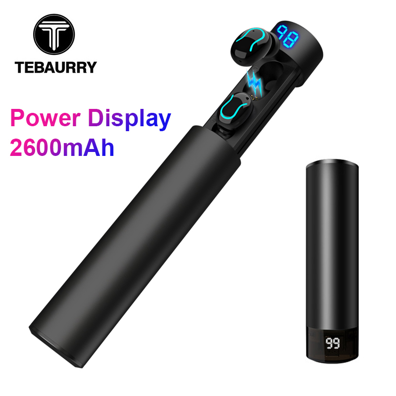 TEBAURRY <font><b>TWS</b></font> Invisible Mini Bluetooth Headset Wireless Bluetooth Earphone Stereo Earbuds with Charging box for iphone xiaomi image