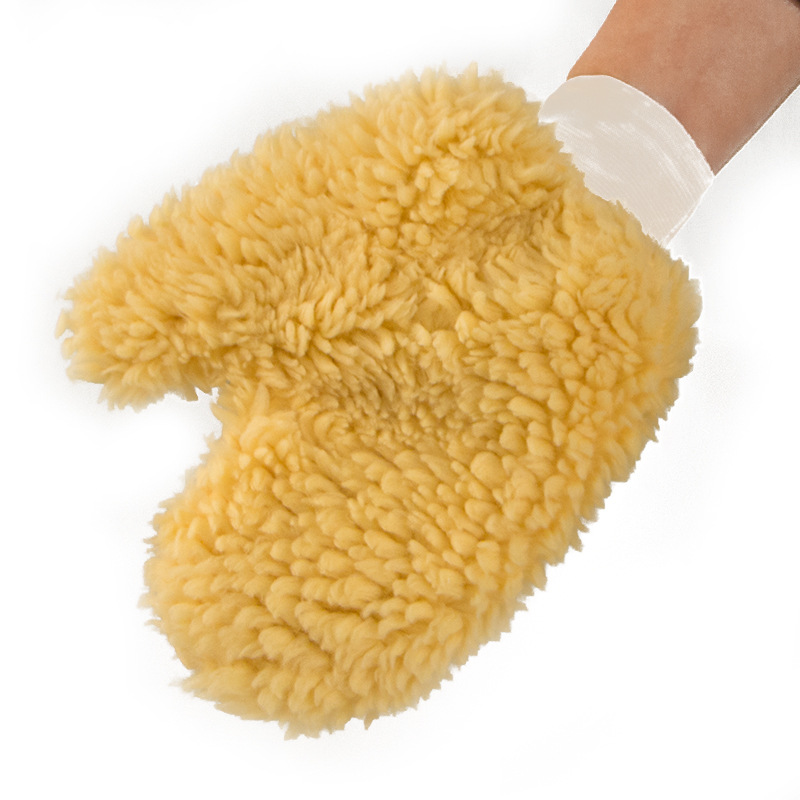Car Wash Imitation Wool Bear Palm Thumb Gloves