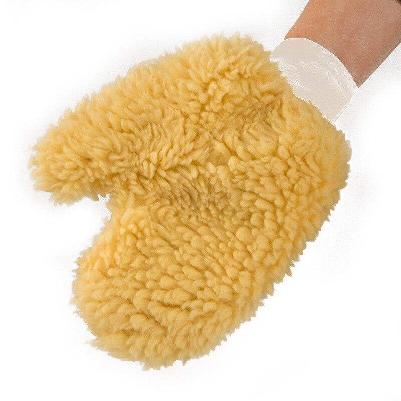 Car Wash Imitation Wool Bear Palm Thumb Gloves