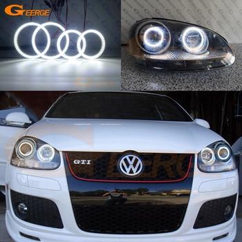цена на For Volkswagen VW Golf Rabbit Jetta GTI R32 MKV MK5 2005-2010 Excellent Ultra bright smd led Angel Eyes kit halo rings