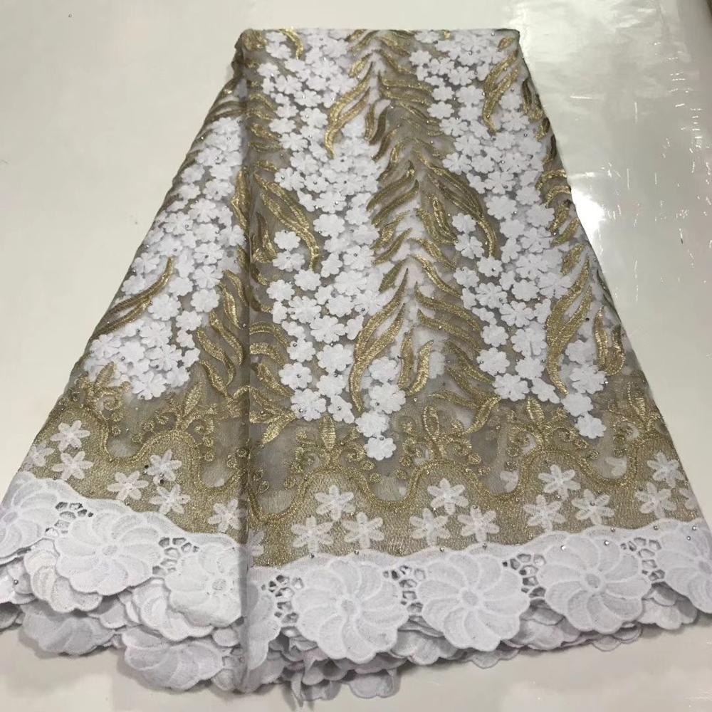 White Mesh French Tulle Lace, African Ankara Swiss Voile Lace Fabrics For Wedding Dress 2020 Latest Nigerian Lace Material