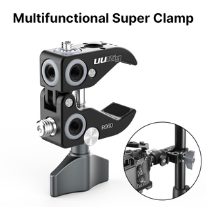 Image 1 - Uurig金属スーパークランプ固定用クリップポータブル旅行三脚一眼レフアクセサリー