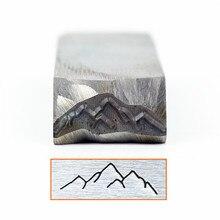 Индивидуальные горы холм дизайн штамп 6x20 мм, DIY браслет/ювелирные знаки сталь штамп, HRC58-60 градусов