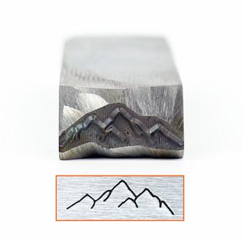 Dostosowane góry wzgórze projekt znaczek 6x20mm DIY bransoletka biżuteria symbole stalowy znaczek HRC58-60 stopni tanie i dobre opinie RCIDOS CN (pochodzenie) steel stamp