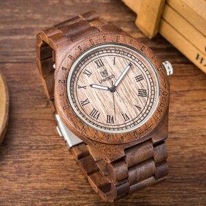 Uwood De Madeira Relógio para Homens De Luxo Do Vintage Relógio de Quartzo Homens Relógio De Madeira Natural Eco|Relógios de quartzo| |  -