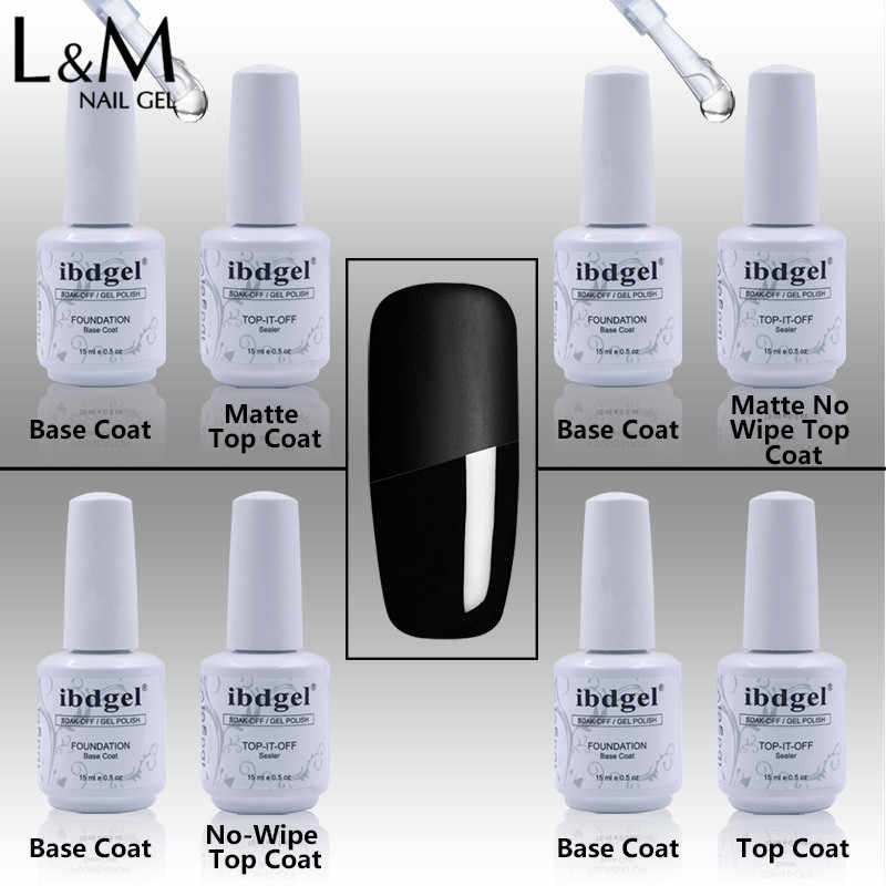 2Pcs Nail Base Coat Top Coat Lange Laatste Gel Uv Base Coat Top Het Off Merk Esmalte Gel Polish gloss Matte Top Jas Gratis Verzending