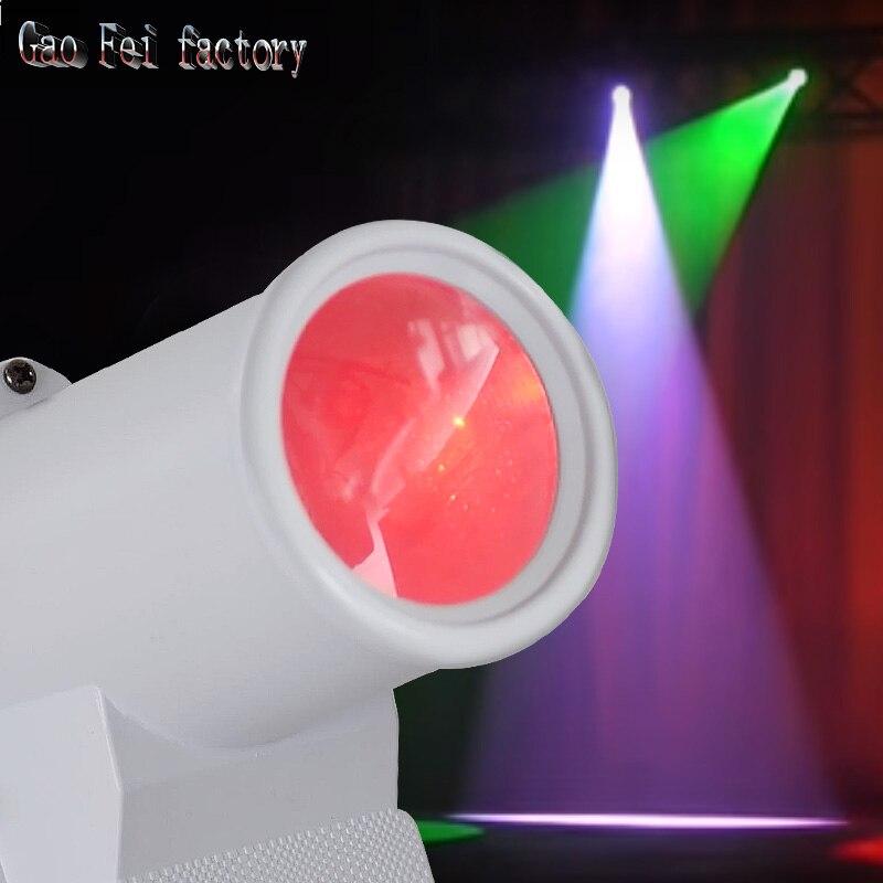 RGBW Stage Light,30W LED Stobe Light DMX512 6CH Stage Effect Beam Pinspot Light For KTV DJ Disco Party Stage Wedding