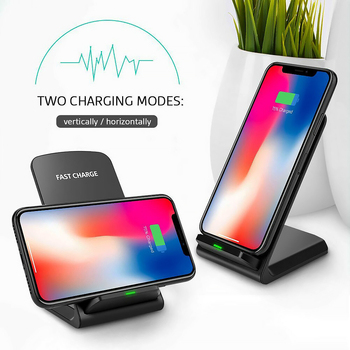 10W Draadloze Oplader Quick Charge Dock Voor Samsung S10 S20 Fast Charging Stand Pad Voor Iphone SE2 11 Pro xs Max Xr X 8 image