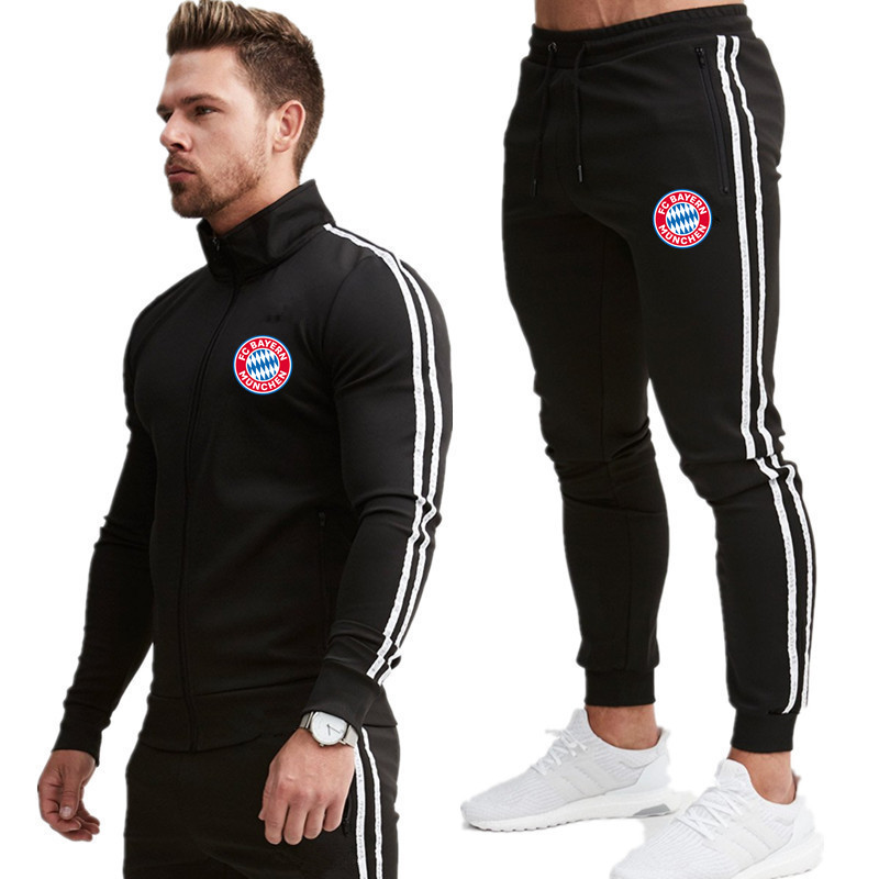 Tracksuits Men Men Sets Fashion Autumn Spring Sporting Suit Sweatshirt +Sweatpants Mens Clothing 2 Pieces Sets Slim Tracksuit