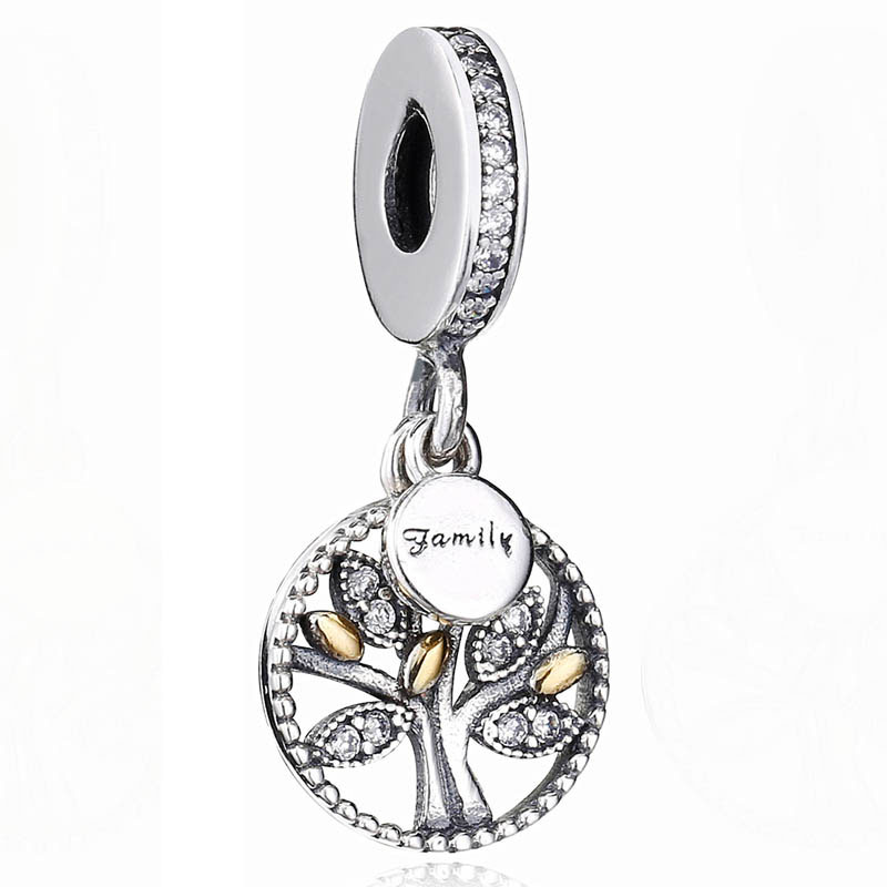 Original Gold Color Family Heritage Tree Of Life Pendant Beads Fit 925 Sterling Silver Charm Bracelet Bangle Diy Jewelry
