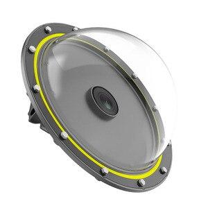 Image 4 - Telesin 6 30M Diepte Dome Poort Voor Gopro Hero Black 7 6 5 Waterdichte Duiken Behuizing Case Voor dji Osmo Action Floaty Bar Stok