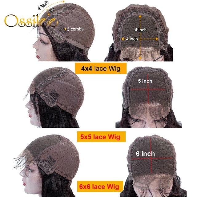 13x 4/13x6 perucas dianteiras do cabelo humano do laço reto 360 perucas frontais do laço remy perucas brasileiras do laço do cabelo humano para a mulher densidade 250 5