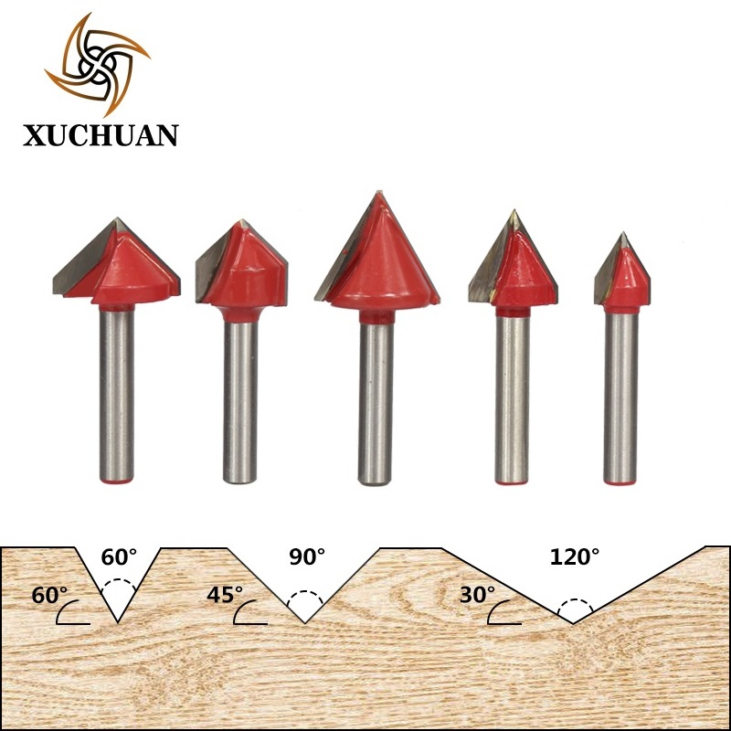 6x16mm V Groove Wood Router Bit CNC Machine Engraving Carving Bit Wood Milling <font><b>Cutter</b></font> 60/90/120/150 Degrees image