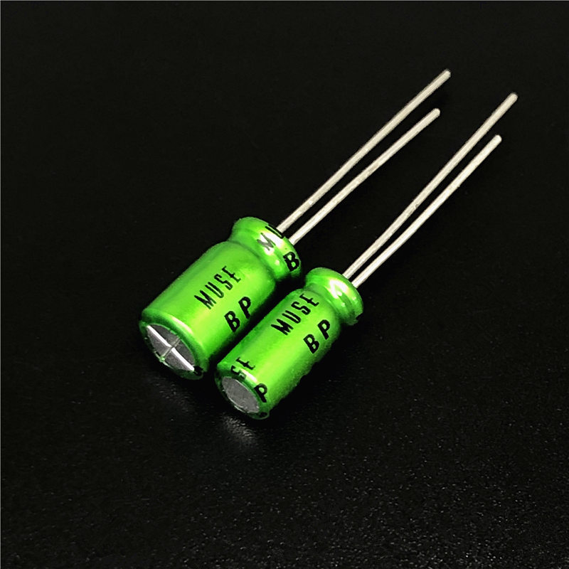 4Pcs/Lot Nichicon MUSE BP ES (Bi)Non Polar Nonpolar Bipolar HiFi Audio Capacitor 4.7uf/10uf/22uf/47uf/100uf 25V/50V Copper Feet