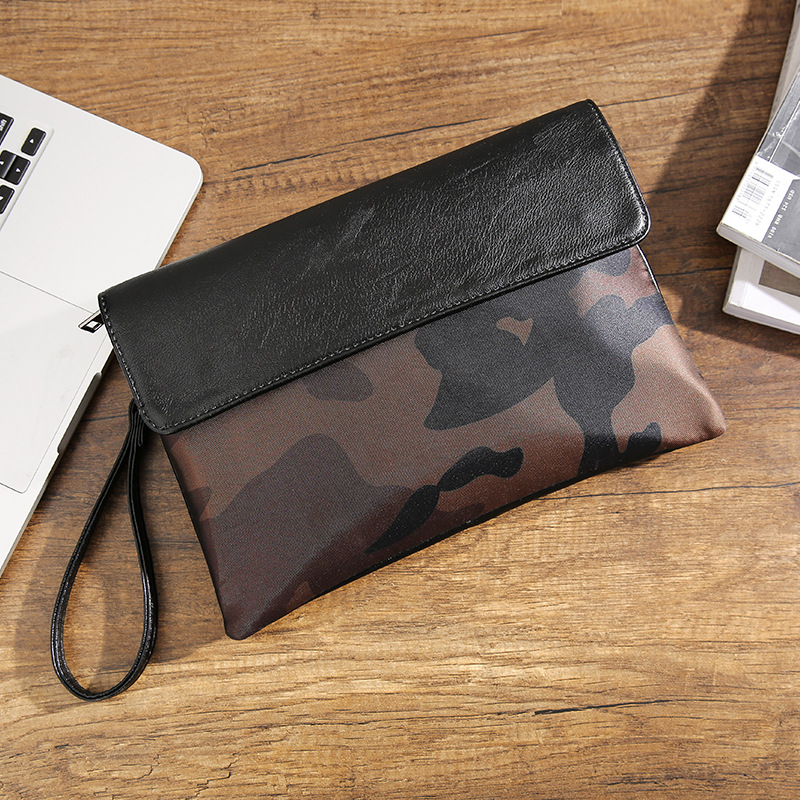 Street casual iPad clutch bag envelope bag men and women tide leopard camouflage clutch bag-in Crossbody Bags from Luggage & Bags