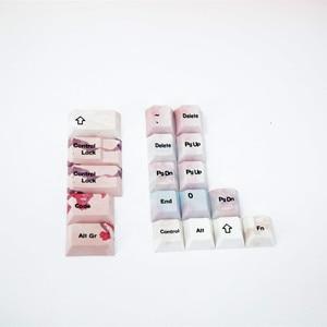 Image 5 - مجموعة كاملة من أغطية مفاتيح أزهار الكرز ، أغطية مفاتيح ميكانيكية PBT 5 ، مجموعة أغطية مفاتيح صبغ وتسامي الوجه لجميع أنواع ساكورا