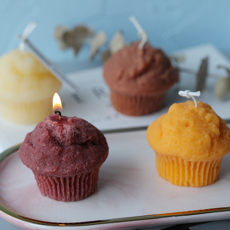 Creative Simulation Muffin Cup Cake Candle Mould Silicone Soap Mold Candle Mold Christmas Home Decor