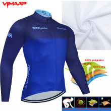 STRAVA 2021 Pro Team Cycling Jersey Bike Wear clothes Quick-Dry Cycling Clothing MTB Ciclismo uniformes Maillot Sport Wear shirt