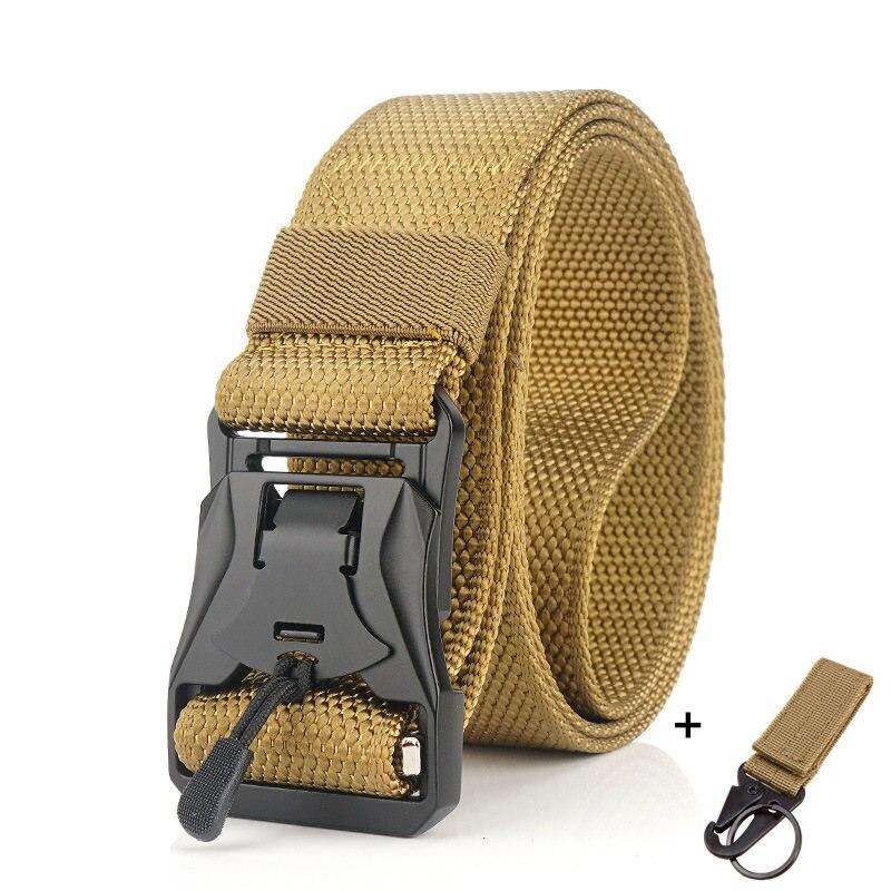 Военный инвентарь армейские тактические ремни для мужчин США армейский тренировочный нейлоновый пояс с металлической пряжкой пояс для охоты на открытом воздухе - Цвет: Khaki2